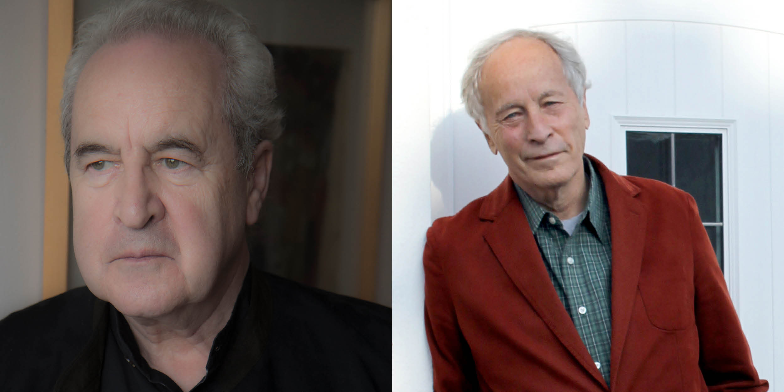 A picture of John Banville (left) and Richard Ford (right)